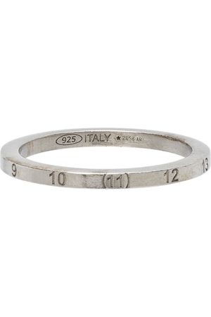 Maison Margiela Silver Slim Numbers Ring