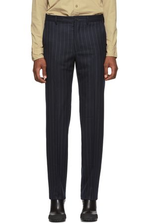 Random Identities Navy & White Wool Classic Trousers