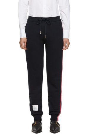 Thom Browne Navy Classic Loopback Lounge Pants