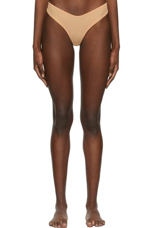 SKIMS Beige Jelly Sheer Dipped Thong