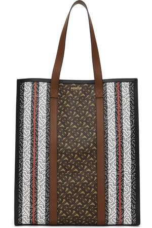 Burberry Brown E-Canvas Monogram Medium Book Tote