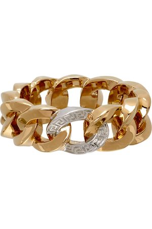 Versace Gold Medusa Chain Ring