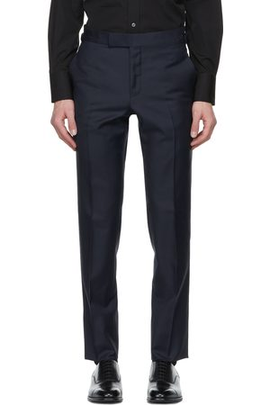 TOM FORD Navy Sharkskin O'Connor Trousers