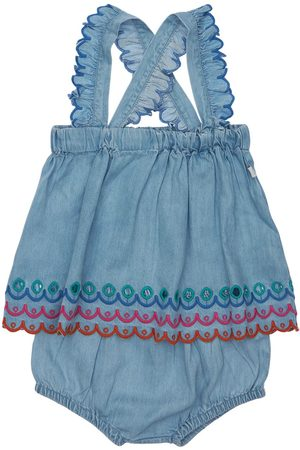 Stella McCartney Embroidered Dress & Diaper Cover