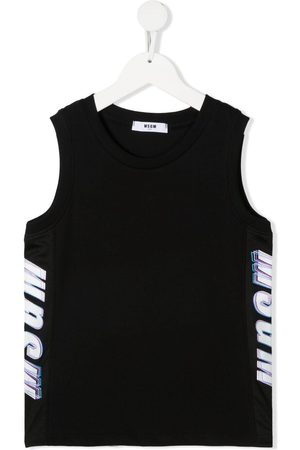 Msgm Logo-print cotton tank top
