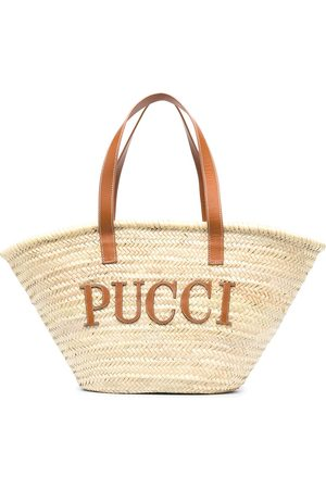 Emilio Pucci Large straw tote bag