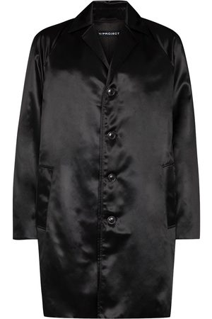 Y / PROJECT Single-breasted satin overcoat
