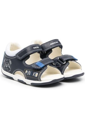 Geox Dog-print touch-strap sandals