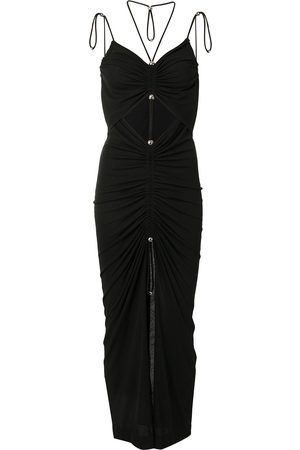 DION LEE Gathered butterfly maxi dress