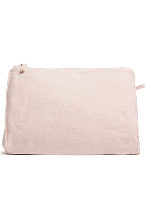 Once Milano Large linen zipped pouch