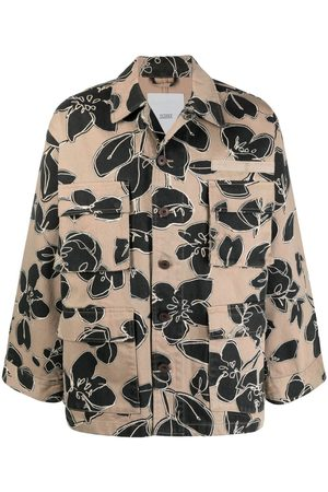 Closed Floral-print single-breasted jacket