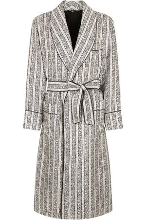 Dolce & Gabbana Striped belted robe
