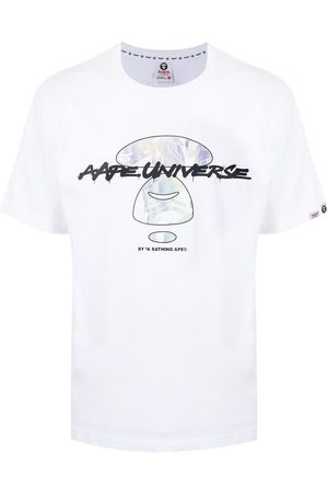 AAPE BY A BATHING APE Futura iridescent graphic print T-shirt