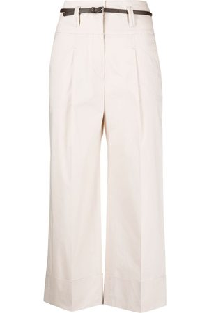 PESERICO SIGN Cropped high-waist trousers