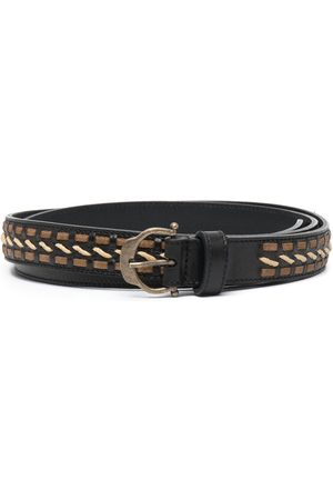 Saint Laurent Horseshoe-buckle belt