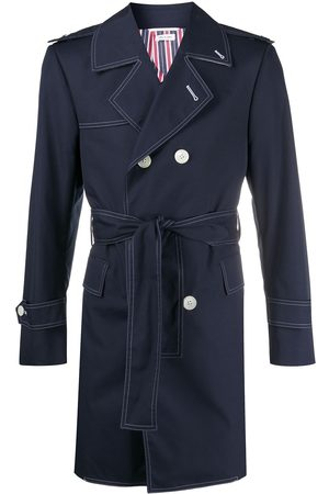 Thom Browne Double-breasted belted trench coat