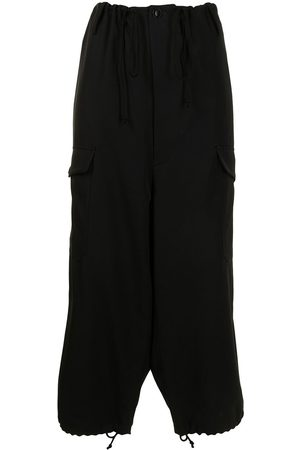 Y'S High-waisted cropped cargo trousers