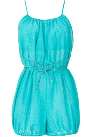 CLUBE BOSSA Calico tied playsuit
