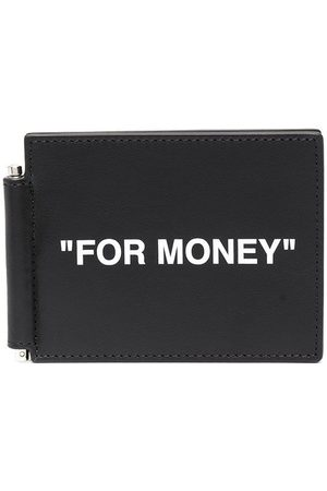 OFF-WHITE CALF SKIN QUOTE BILL CLIP WAL WHIT
