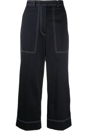 Thom Browne Stitching-detail cropped trousers