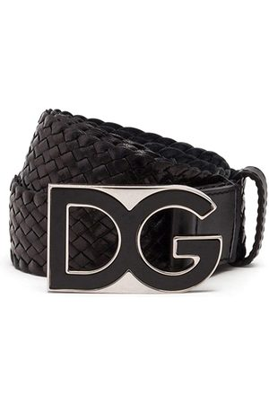 Dolce & Gabbana DG buckle interwoven belt