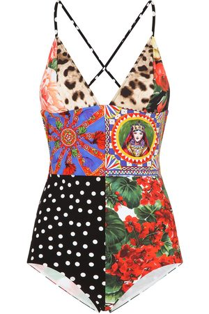 Dolce & Gabbana Patchwork print swimsuit