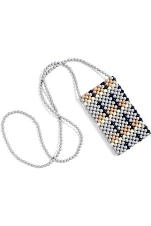 Hay Perla beaded phone holder