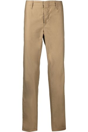 Incotex Slim-fit satin cotton tapered trousers