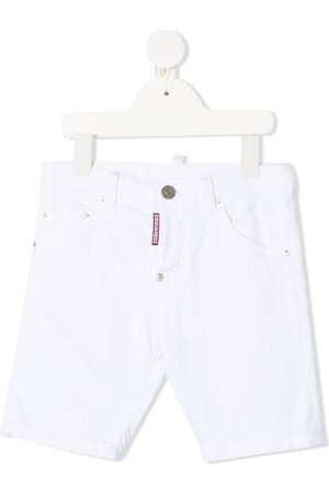 Dsquared2 Logo-tab bermuda denim shorts