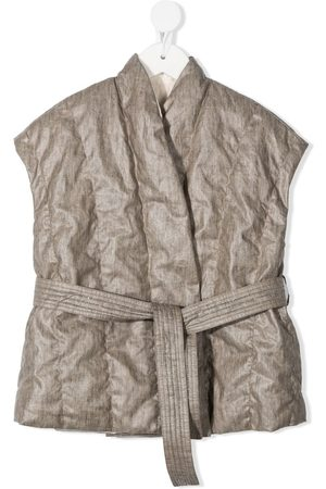 Brunello Cucinelli Belted padded gilet