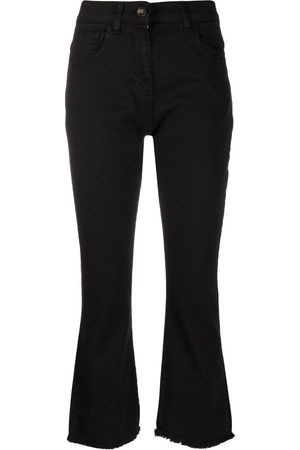 SEMICOUTURE Cropped high-rise jeans