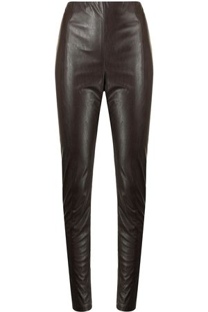 MANNING CARTELL Faux-leather tonal-stitching leggings