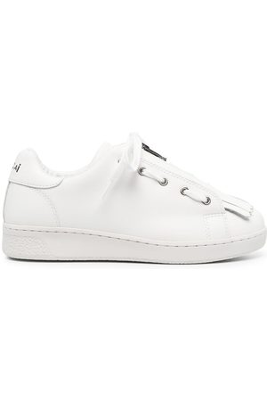 A.P.C. Tassel-front leather trainers