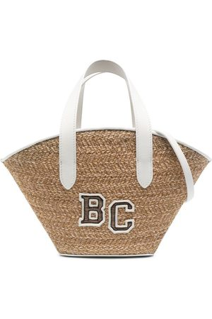 Brunello Cucinelli Logo-embroidered beach bag