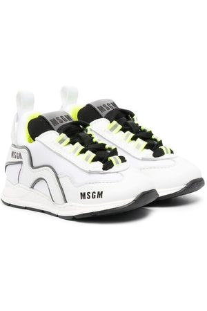 Msgm Logo-print lace-up sneakers