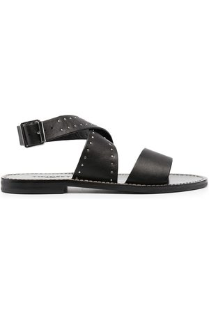 Twin-Set Studded crossover sandals