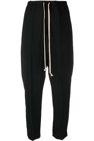 Rick Owens Drawstring cropped wool trousers