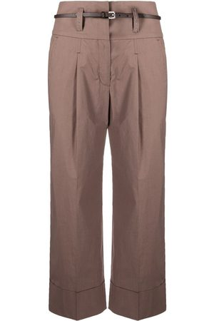 PESERICO SIGN Cropped wide-leg trousers