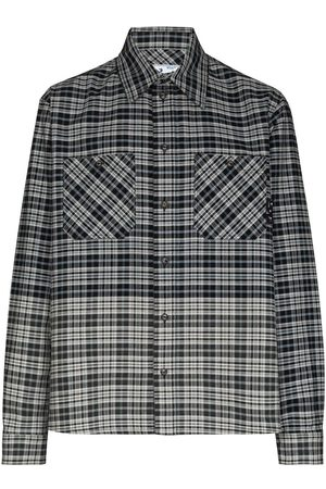OFF-WHITE Spliced flannel shirt