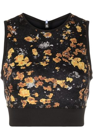 McQ Abstract-print cropped vest