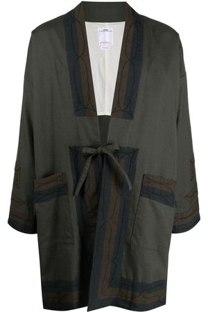 VISVIM Drop-shoulder tie-fastening jacket