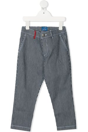 FAY KIDS Striped fitted trousers