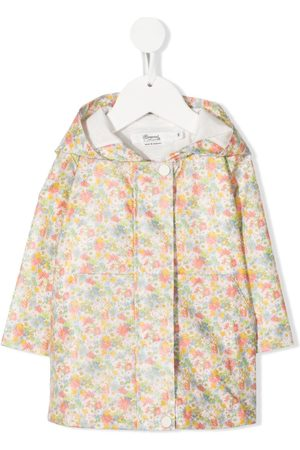 BONPOINT Floral-print hooded raincoat