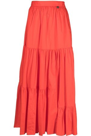 Twin-Set Cotton tiered skirt