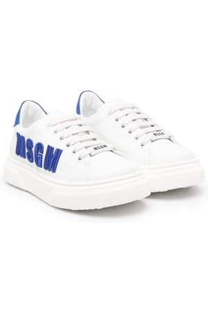 Msgm Logo-embroidered trainers