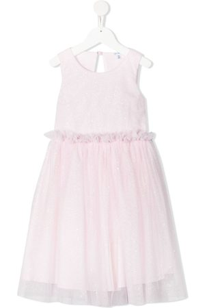 Piccola Ludo Tulle ruffle-trimmed dress