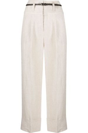 PESERICO SIGN Pressed-crease cropped trousers
