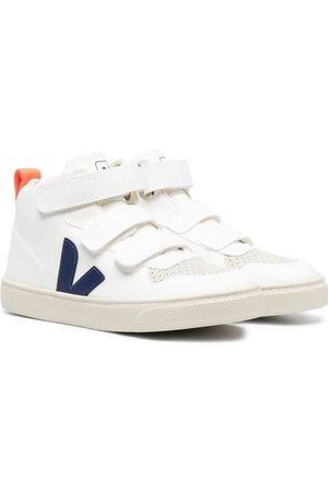Veja Kids High-top touch-strap sneakers