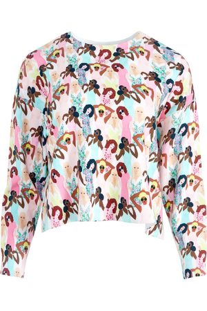 ALICE+OLIVIA Graphic-print knitted top