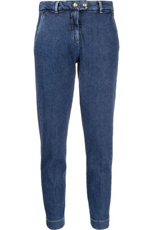 Pinko High-rise tapered leg jeans